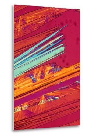 A Photomicrograph, a Picture Taken Through a Microscope, of Benzoic Acid-Cesare Naldi-Metal Print