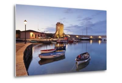 Port of Marciana Marina with Torre Pisana Tower-Markus Lange-Metal Print