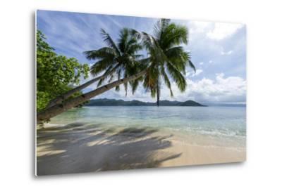 Tropical Island Beach at Matangi Island Resort, Vanua Levu, Fiji, Pacific-Louise Murray-Metal Print