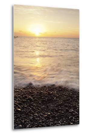 Sunset at Playa De Alojera Beach, Alojera, West Coast, La Gomera, Canary Islands, Spain, Atlantic-Markus Lange-Metal Print