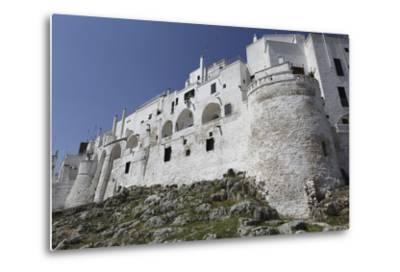 The Whitewashed City Wall, Including a Defensive Tower, in the White City (Citta Bianca)-Stuart Forster-Metal Print