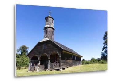 San Antonio Church, Colo, Island of Chiloe, Chile-Peter Groenendijk-Metal Print