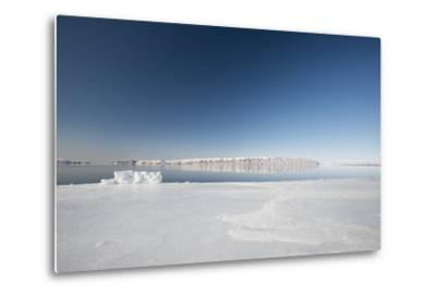 Hunting Blind Made from Ice Blocks at the Floe Edge-Louise Murray-Metal Print