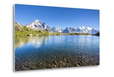 Mont Blanc from Lac Des Cheserys, Haute Savoie. French Alps, France-Roberto Moiola-Metal Print
