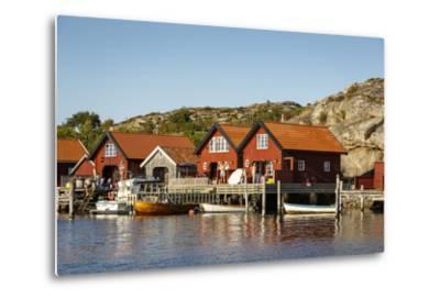 Timber Houses, Grebbestad, Bohuslan Region, West Coast, Sweden, Scandinavia, Europe-Yadid Levy-Metal Print
