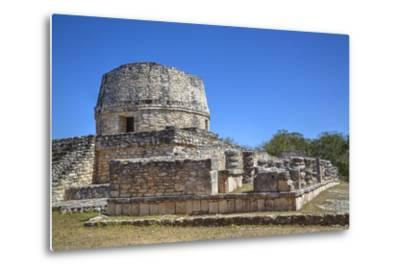 Templo Redondo (Round Temple), Mayapan, Mayan Archaeological Site, Yucatan, Mexico, North America-Richard Maschmeyer-Metal Print