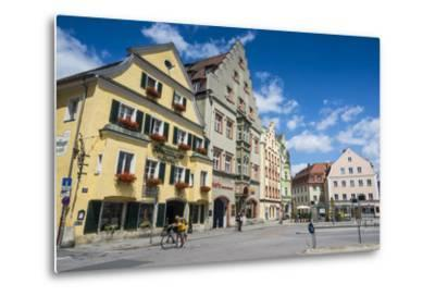 Old Trader Houses on Arnulfsplatz, a Square in Regensburg, Bavaria, Germany-Michael Runkel-Metal Print