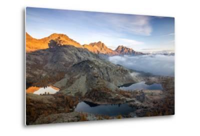 Autumn Landscape at the Natural Park of Mont Avic, Lac Blanc, Aosta Valley, Graian Alps, Italy-Roberto Moiola-Metal Print