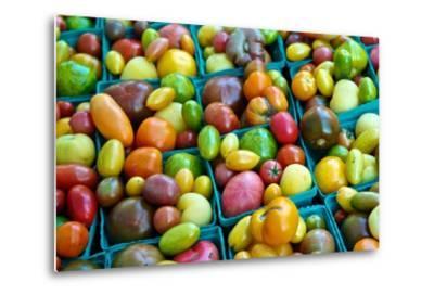 Colorful Heirloom Tomatoes at a Farmers' Market-Kike Calvo-Metal Print