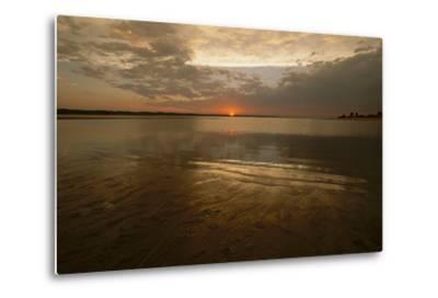 The Sunsets over Calamus Reservoir-Michael Forsberg-Metal Print