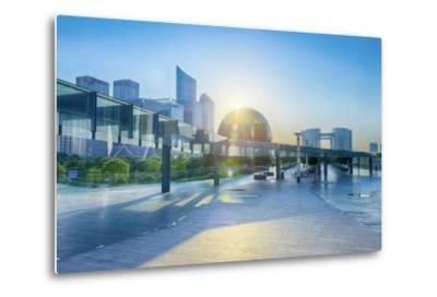 Brand New Skyscrapers and Modern Architecture in an Hdr Capture in Jianggan-Andreas Brandl-Metal Print