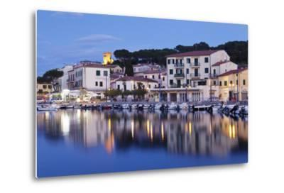 Harbour with Torre Della Marina, Marina Di Campo, Island of Elba, Livorno Province, Tuscany, Italy-Markus Lange-Metal Print
