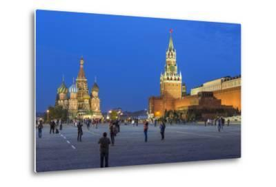 St. Basils Cathedral and the Kremlin in Red Square, Moscow, Russia-Gavin Hellier-Metal Print