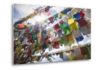 The Tibetan Prayer Flags Made of Colored Cloth-Roberto Moiola-Metal Print