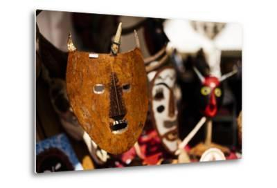 Traditional Mask Stall in Praca Do Rossio, Lisbon, Portugal-Ben Pipe-Metal Print