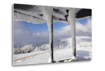 Hut at the Peak of Kandel Mountain in Winter, Black Forest, Baden-Wurttemberg, Germany, Europe-Markus Lange-Metal Print