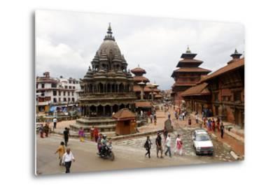 View of Patan's Durbar Square-Jill Schneider-Metal Print