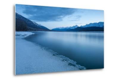 Pre-Dawn Long Exposure of the Icy Blue Chilkat River-Jak Wonderly-Metal Print