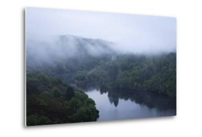 Dawn, Crozant Castle and the River Creuse, Limousin, France, Europe-Jean Brooks-Metal Print