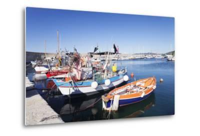 Port of Marciana Marina with Fishing Boats-Markus Lange-Metal Print