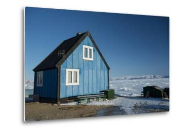 Colourful Wooden House in the Village of Qaanaaq-Louise Murray-Metal Print
