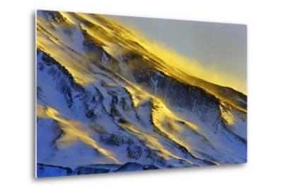 The First Rays of Sunrise Shine on Snow-Covered Slopes of Mount Damavand-Babak Tafreshi-Metal Print
