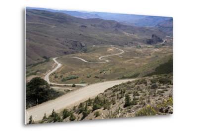 Winding Road, Foothills of the Andes, Argentina-Peter Groenendijk-Metal Print