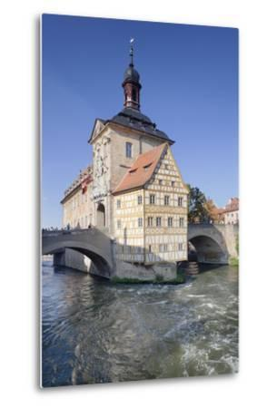 Old Town Hall, UNESCO World Heritage Site, Regnitz River, Bamberg, Franconia, Bavaria, Germany-Markus Lange-Metal Print