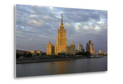 Moskva River and Hotel Ukraine-Gavin Hellier-Metal Print