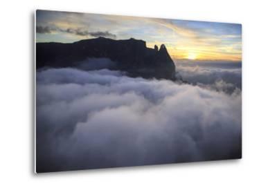 Aerial View of Santner Peak at Sunset-Roberto Moiola-Metal Print