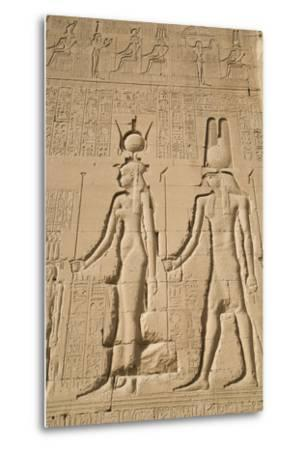 Relief of Cleopatra and Horus, Temple of Hathor, Dendera, Egypt, North Africa, Africa-Richard Maschmeyer-Metal Print