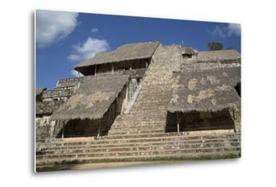 The Acropolis, Ek Balam, Mayan Archaeological Site, Yucatan, Mexico, North America-Richard Maschmeyer-Metal Print