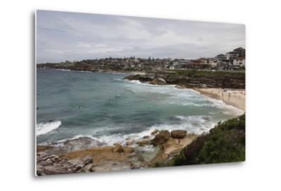 Coastal Path from Bondi Beach to Bronte and Congee, Sydney, New South Wales, Australia, Pacific-Julio Etchart-Metal Print