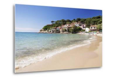 Beach at Scaglieri Bay, Island of Elba, Livorno Province, Tuscany, Italy-Markus Lange-Metal Print