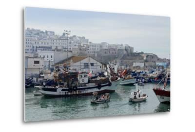 Fishing Boats Leaving Tangier Fishing Harbour, Tangier, Morocco, North Africa, Africa-Mick Baines & Maren Reichelt-Metal Print
