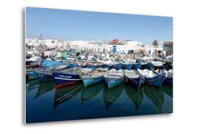 Small Inshore Fishing Boats in Tangier Fishing Harbour, Tangier, Morocco, North Africa, Africa-Mick Baines & Maren Reichelt-Metal Print