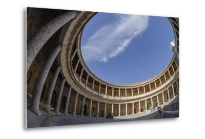 Palace of Charles V, Alhambra, Granada, Province of Granada, Andalusia, Spain-Michael Snell-Metal Print