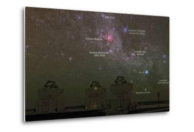 Nebulae and Star Clusters in the Milky Way over the Cerro Paranal Observatory-Babak Tafreshi-Metal Print