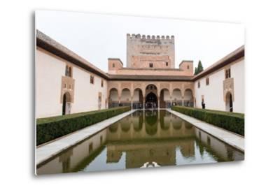 Patio De Arrayanes, Palacios Nazaries, the Alhambra, Granada, Andalucia, Spain-Carlo Morucchio-Metal Print