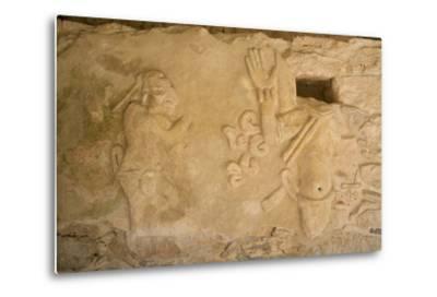 Figures of Stucco Relief, Skeletal Heads Found in the Niches, Castillo De Kukulcan-Richard Maschmeyer-Metal Print