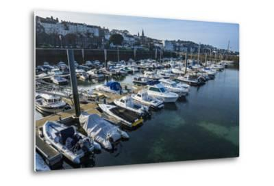 Sport Boat Harbour in Saint Peter Port, Guernsey, Channel Islands, United Kingdom-Michael Runkel-Metal Print
