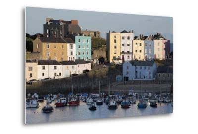 View over Harbour, Tenby, Carmarthen Bay, Pembrokeshire, Wales, United Kingdom, Europe-Stuart Black-Metal Print