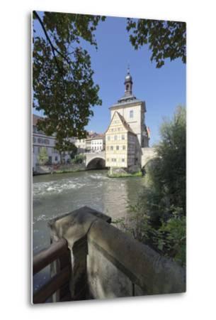 Old Town Hall, UNESCO World Heritage Site, Regnitz River, Bamberg, Franconia, Bavaria, Germany-Markus Lange-Metal Print