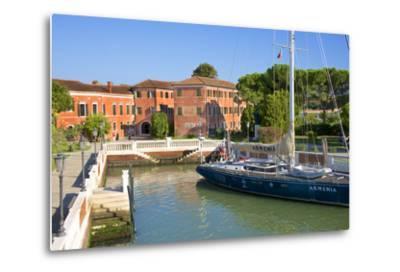 Armenian Monastery, San Lazzaro Degli Armeni, and Armenian Sail Boat, Venice, Veneto, Italy-Guy Thouvenin-Metal Print