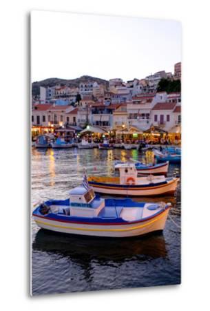The Port of Pythagorio, Samos Island, North Aegean Islands, Greek Islands, Greece, Europe-Carlo Morucchio-Metal Print