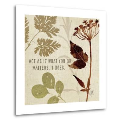 Leaves of Inspiration IV-Sarah Mousseau-Metal Print