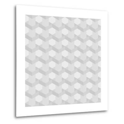 Seamless Texture of Grey to White Squares-Little_cuckoo-Metal Print