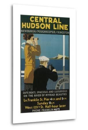 Travel Poster, Central Hudson Line-Found Image Press-Metal Print