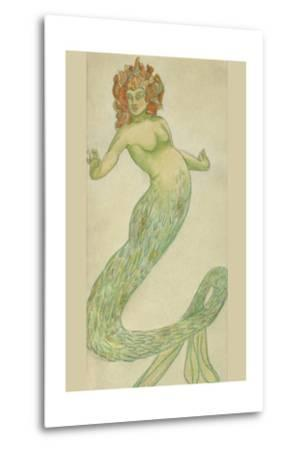 Mermaid-Hannes Bok-Metal Print