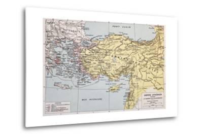 Athenian Empire Old Map-marzolino-Metal Print